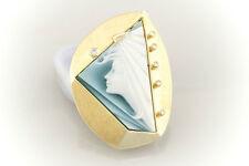 Schmuck Brosche Anhänger Zauberhafte Gemme 585 Gold 14 Karat mit Brillanten