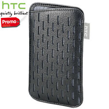 Custodia cover case originale in PELLE nera PO S570 per HTC Desire C, Desire S