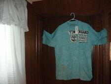 BOX #61 Timberland t-shirt short sleeve aqua Orig RUGG AUTH size MEDIUMTall NWT