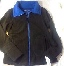 NEW CALVIN KLEIN Athletic Fleece Jacket Coat - Size S Royal Blue Black Zip $59