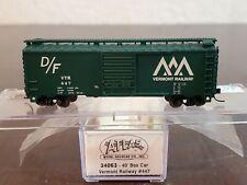 N Atlas Vermont Railway D/F 34063 40' Box Car VTR 447