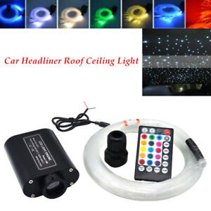 12V 12W Audio Fiber Optic Star Light Auto Headliner Roof Ceiling Light 300 Point