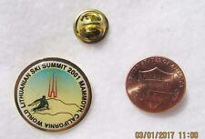 World Lithuanian Ski Summit 2001 Mammoth, California Snow Lapel Pin Pinback Hat