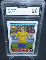 2015 Panini Donruss Soccer Lionel Messi Card #68 GMA Graded NM-MT+ 8.5 BARCELONA