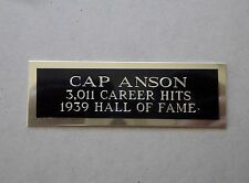 """Cap Anson Nameplate For A Signed Baseball Ball Cube Or Card Plaque 1"""" X 3"""""""