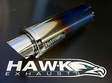 Kawasaki ZX7R 1996 - 2003 Hawk GP Coloured Titanium Race Exhaust Silencer Can