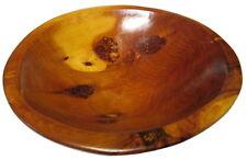 "Moroccan Exotic Burlwood Thuya Wood Decor Centerpiece Plate Bowl 9"""