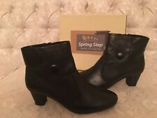"""Spring Step """"Ariella"""" Women's Black Ankle Boots Size 10.5"""