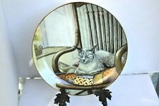 American Artist Fantastic Cat Plate by Zoe Titled Quiet Moments