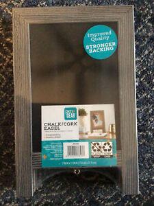 Grey * Pen + Gear Desk Chalk & Cork Double Sided Board Easel ~ Tabletop ~ NEW