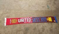 Manchester United v West Ham Vintage Football Scarf Soccer Bufanda Fancy  0565