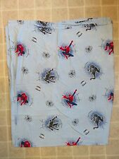 SPIDER-MAN 3 Movie BED SHEET Top/Flat Twin Climbing Web Slinging Blue Comic Art