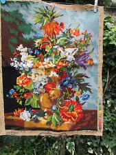 Tapisserie faite main vintage (XXè) création Margot Paris 51 cm x 65 cm