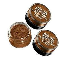 LOT OF 3 - MAYBELLINE COLOR TATTOO PURE PIGMENTS EYE SHADOW #35 BREAKING BRONZE