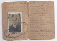 Government of Palestine Judaica identity card Israel 1941 IDF Operation Betzer