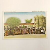 Mission Play San Gabriel Cal The Processional 2nd Act VTG Postcard PNC Unmarked