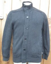 ST GEORGE by Duffer Men's Lined Knitted Grey Cotton Heavy Cardigan Size M