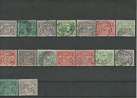 Schönes Lot Dienstmarken Bayern 1916 mit Bayerischen Staatswappen gestempelt 16