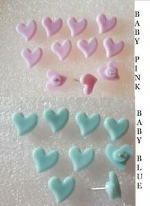 BABY PINK / BLUE Heart shaped MAP PUSH PINS TACK HOME OFFICE DRAWING CORK BOARD
