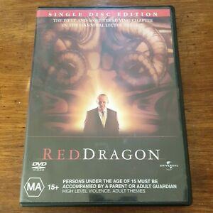 Red Dragon DVD R4 Like New! FREE POST