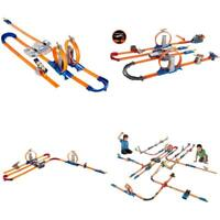Hot Wheels Track Set Builder Loops W/ Booster Cars Racetrack Toys Kids Play Game