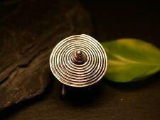 Ausgefallener Silber Ring Spirale Schnecke Erhaben Spitz Rund Groß