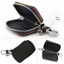 Universal Leather Car Key Chain Holder Zipper Case Remote Wallet 360° Rotatable