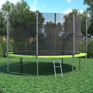 XXL Trampolin Gartentrampolin 430 cm Komplettset mit Netz innenliegend + Leiter