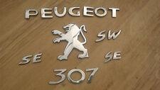 PEUGEOT 307 SW SE ESTATE 2006 FACELIFT BOOTLID TAILGATE DOOR BADGES BADGE