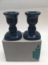 PartyLite Pair Navy Taper Dinner Candle Holders P0231 - New Unused
