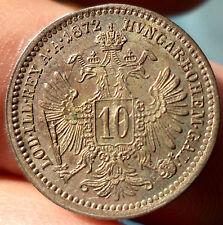 10 KREUZER 1872 FRANCOIS JOSEPH AUTRICHE