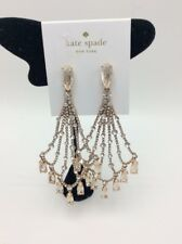 $128  KATE SPADE ROSE GOLD TONE PLATED CRYSTAL CHANDELIER EARRINGS 108A