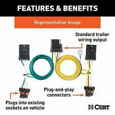 Curt Trailer Hitch Wiring Connector 55540 for Chevrolet / GMC Express / Savana