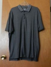 IZOD Men's Black Pattern Short Sleeve Polo Shirt Size XL