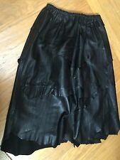Vintage Black THRASHED LEATHER DYSTOPIA SKIRT Steam Punk S/M GOOD OLD TIMES INC
