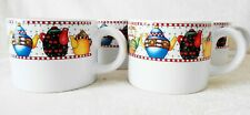"Mary Engelbreit Set of 4 Coffee cups ""Afternoon Tea"" By Sakura"