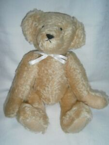 LARGE 40CM COLLECTABLE HANDMADE ARTIST GOLDEN MOHAIR JOINTED BEAR TOY DOLL