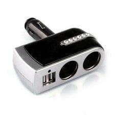 Dual USB 2 Way Car Cigarette Lighter Socket Splitter Adapter Charger DC S7I1