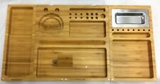 RAW Rolling TRIPLE FLIP BAMBOO Magnetic Tray W/ Free Extra's and Free Shipping