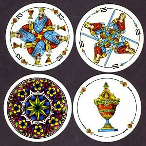 Round Spanish Suited playing cards, Fournier, Spain, c1975