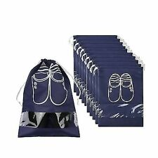 Home Storage & Organization Sporting Waterproof Travel Shoe Bags Portable Dust-proof Drawstring Closure Shoes Storage Bag Fabric Non-woven Household Organizer Home & Garden
