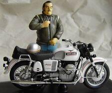 Moto Guzzi  V 7 Spezial 1971 + Figur / Fahrer * Joe Bar SOLIDO 1:18 (Farbfehler)