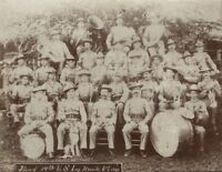 1900 Cabinet Card of 14th U.S. Infantry Band in Manila - Spanish American War