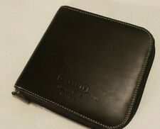 Coach Black Leather Vintage CD DVD Disc Holder With Contrast White Stitching