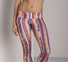 Onzie Capri Legging M/L Southwest Tribal Aztec Print Orange Pant Crop
