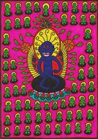 Original Drawing by Jay Snelling. Outsider Art Brut. Buddhism, Meditation