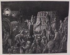 """Doré-Londres; 'al mercado de Covent Garden-temprano en la mañana"""", grabado en madera, C.1870"""