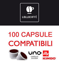 200 CIALDE CAPSULE CAFFE LOLLO MISCELA NERA UNO SYSTEM INDESIT KIMBO ILLY gratis