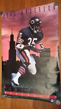 "Vintage Original Neal Anderson Chicago Bears / Bear Necessity (24 x 36"")"