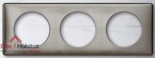 Plaque triple métal Céliane tungstène entraxe 71mm Legrand 68973